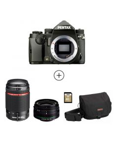 KP Black + 18-50mm WR + 55-300mm WR + DSLR Bag + 32 GB SD Card