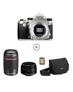 KP  Silver + 18-50mm WR + 55-300mm WR + DSLR Bag + 32 GB SD Card