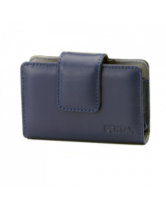 Blue leather case