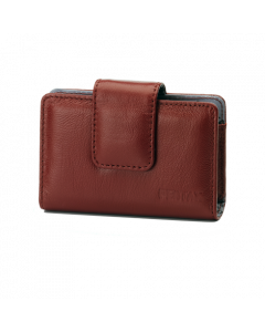 Red leather case