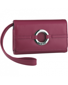 Fuchsia leather case
