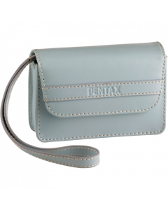 Aqua blue leather case