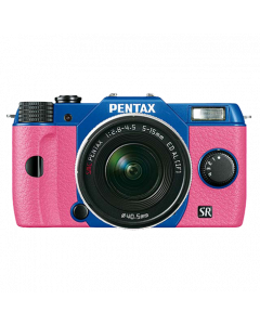 Q10 sapphire blue/pink + zoom 5-15mm